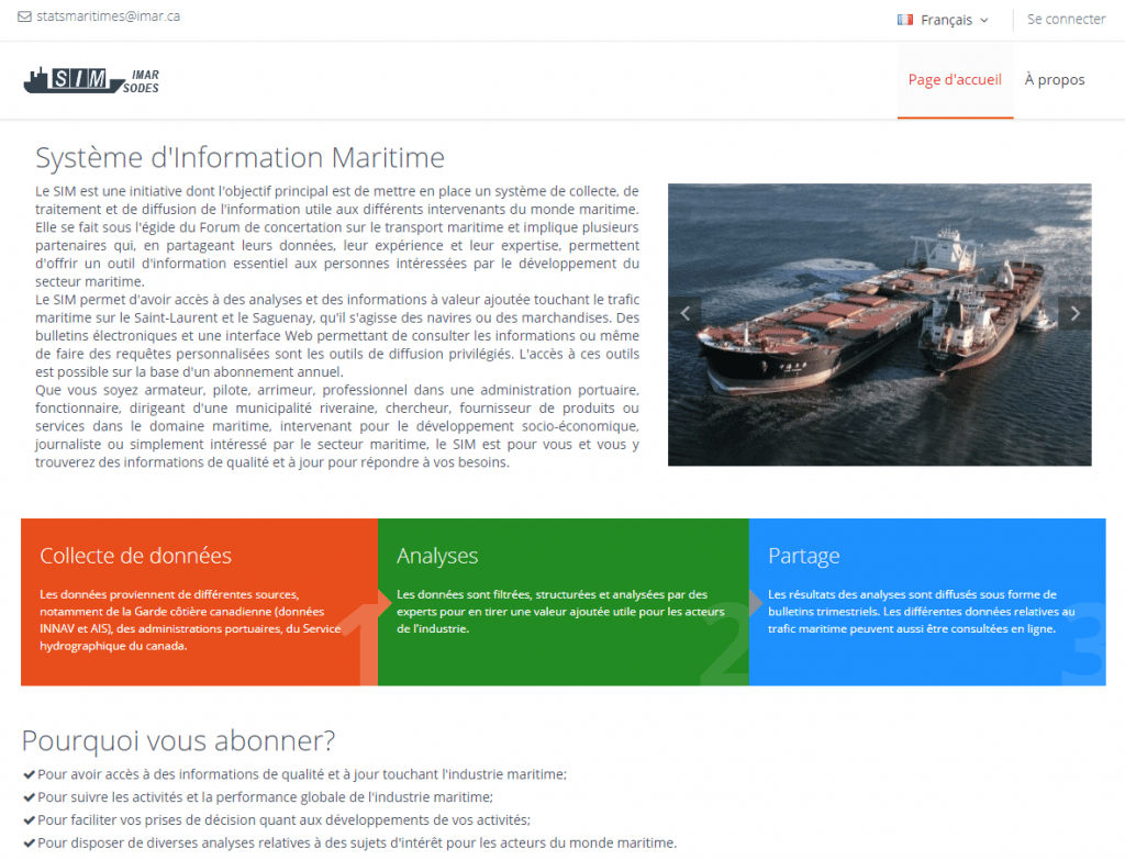 Development and implementation of a Marine Information System (MIS)